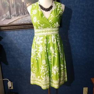 Chadwicks 12 Lime Green A Line Lined Dress…
